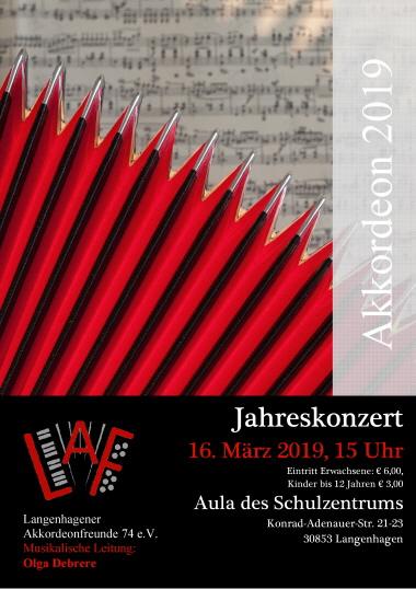 Jahreskonzert der  Langenhagener Akkordeonfreunde @ Aula des IGS-Schulzentrum   Langenhagen   Niedersachsen   Deutschland